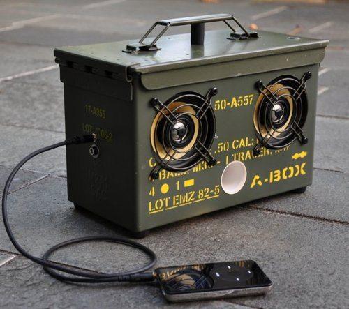 diy ammo speaker box