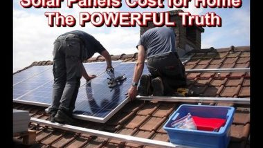 solar panels cost for home