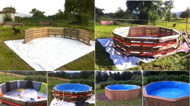 pallet swiming pool