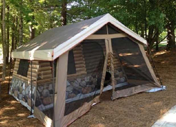 log cabin tent total survival