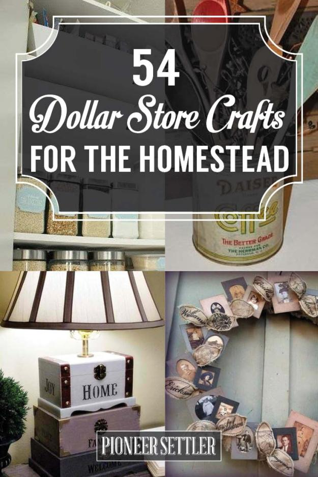 54 Dollar Store Crafts For The Homestead Total Survival
