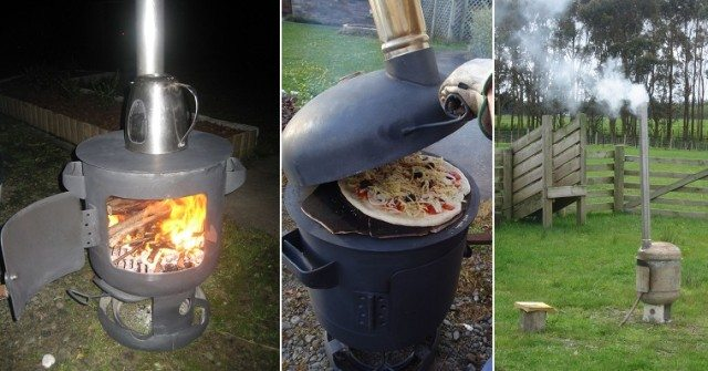 Diy Portable Wood Fired Pizza Oven And Patio Heater