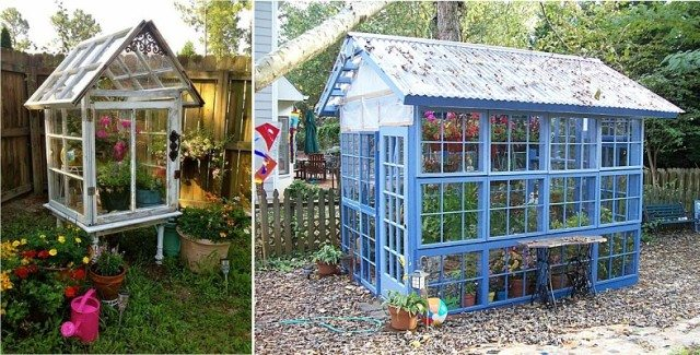 10 Greenhouses Made From Old Windows And Doors Total
