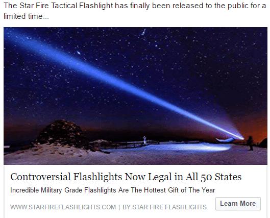 star fire flashlight