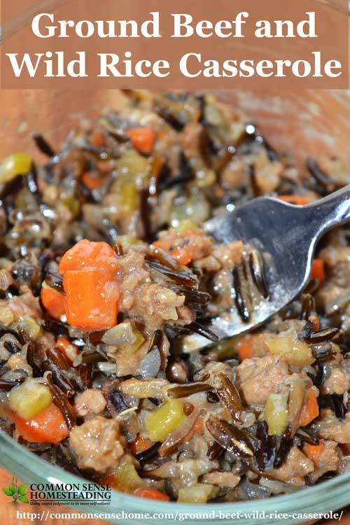 Ground Beef And Wild Rice Casserole