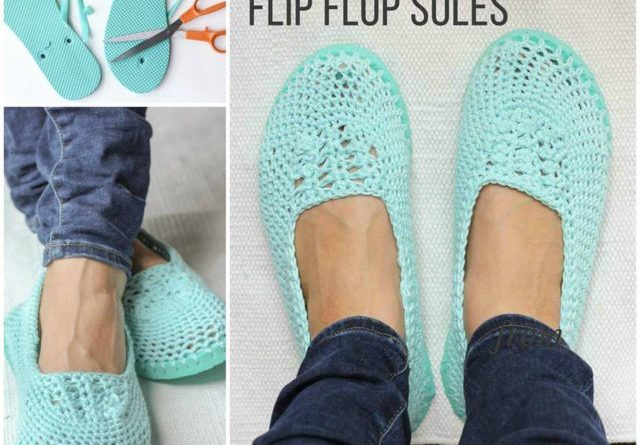 802c2ecd8 How To Make Crochet Slippers With Flip Flop Soles - Total Survival