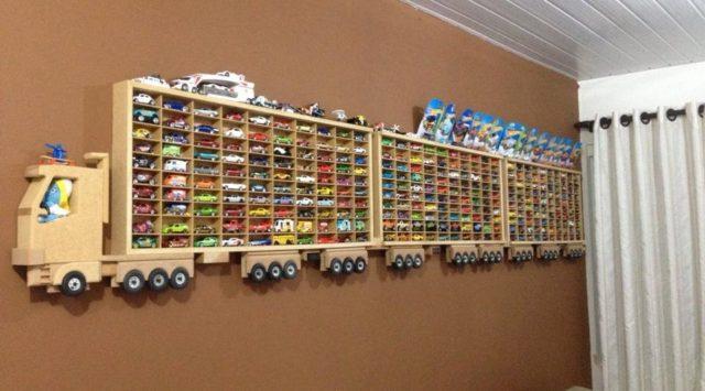 Amazing Wooden Diy Truck Hot Wheels Display