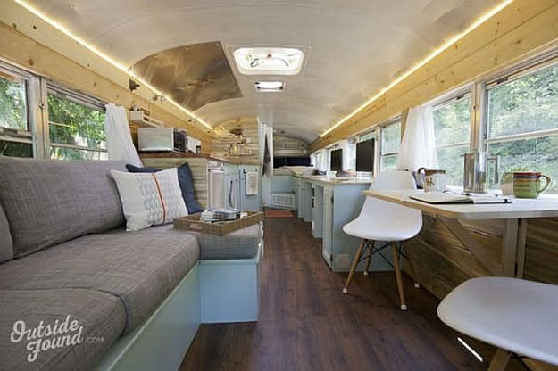 Watch As These Homesteaders Turn Old Busses Into Livable