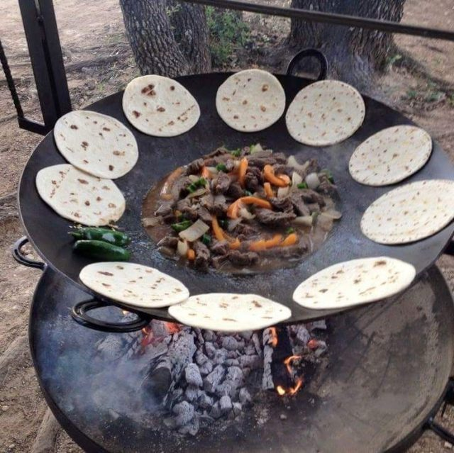 Camp Cooking Tips And Tricks: Awesome Grill Made Out Of Tractor Discs