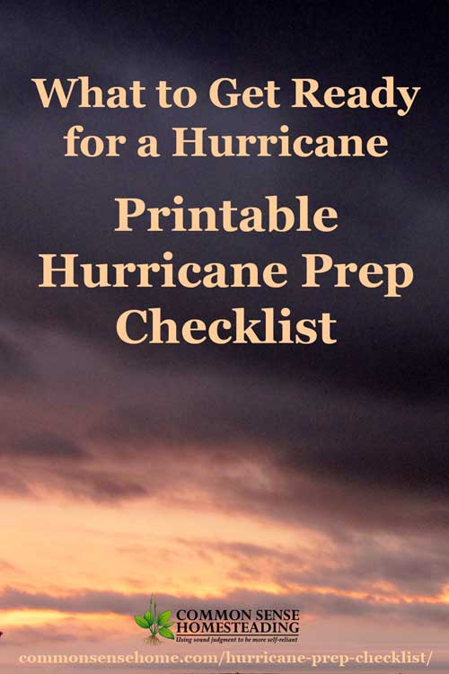 what to get ready for a hurricane  u2013 printable hurricane