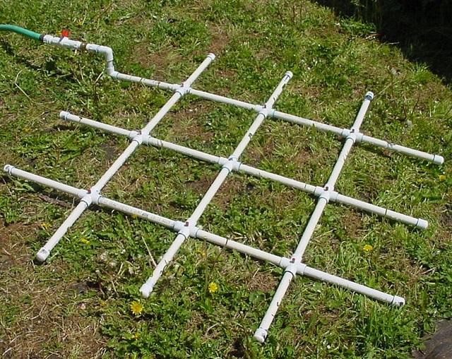 diy pvc water grid