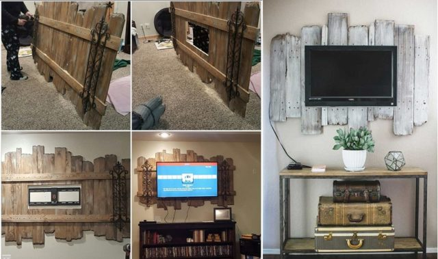Diy Wood Pallet Tv Mount Total Survival