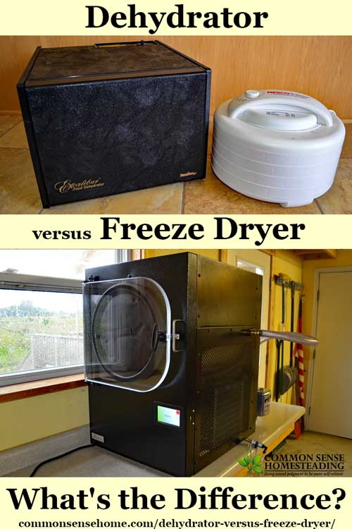 Dehydrator Versus Freeze Dryer What S The Difference