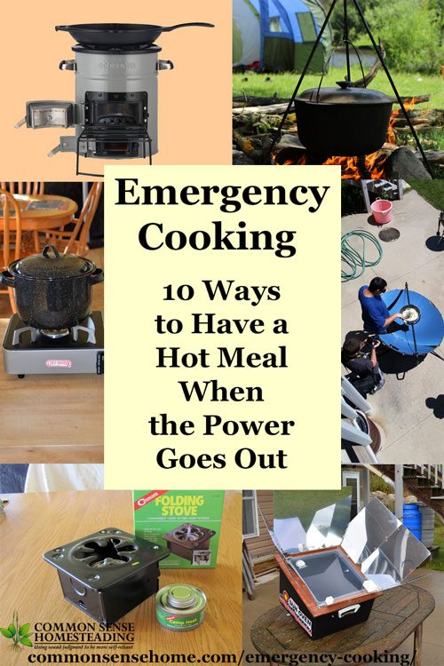 Emergency cooking 10 ways to have a hot meal when the for Minimalist household items