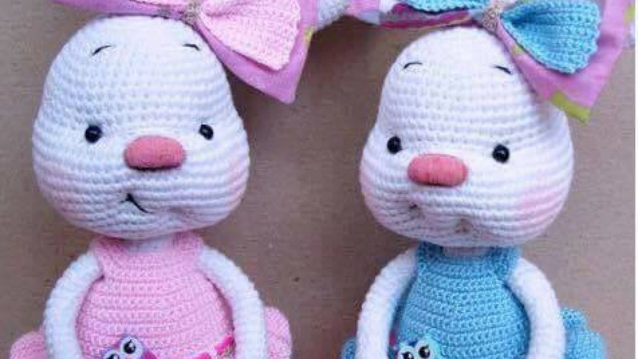 This precious crochet bunny dressed up... - Amigurumi Today - Free ... | 720x1280