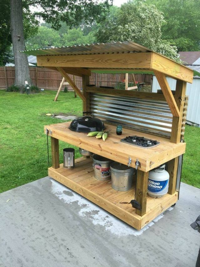 How To Make An Outdoor Kitchen Upcycled Pallet Outdoor