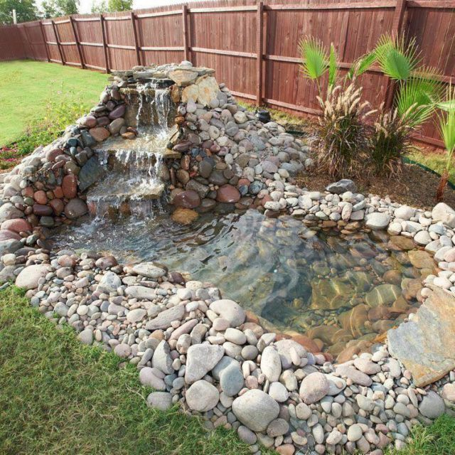 Build a backyard pond and waterfall total survival for Creating a pond