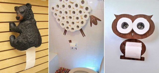 Creative toilet paper holders total survival Creative toilet paper holder