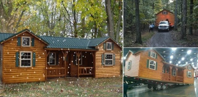 Cumberland log cabin kit total survival for Self sufficient cabin kits