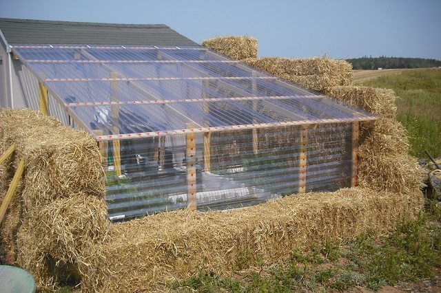 How to build a straw bale greenhouse for Build cost net