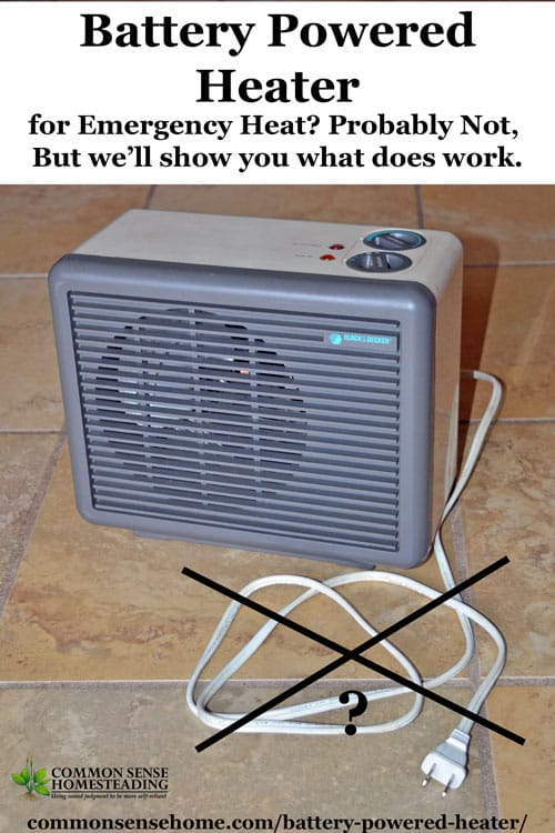Do Battery Powered Space Heaters Or Emergency Heaters