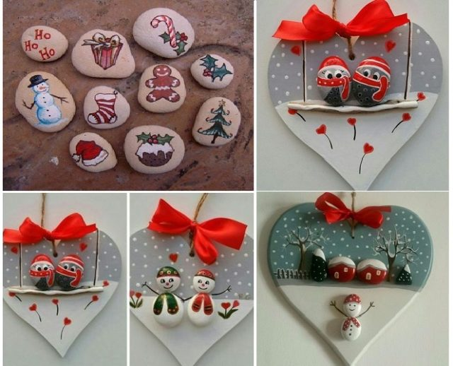 Christmas Rock Painting Images.Try These Cute Christmas Rock Painting Ideas For Kids