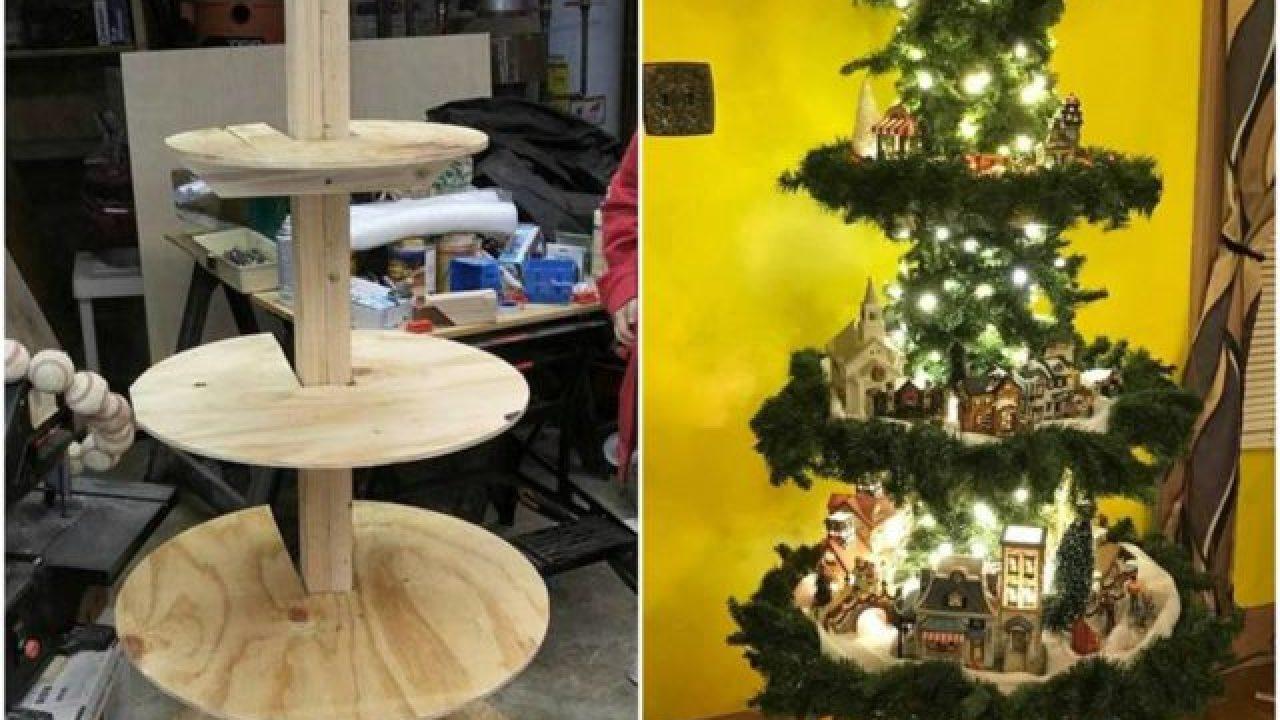 Christmas Village Display Tree Plans Total Survival